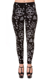 Bnned Women leggings Pentagram Black Another Way of Life