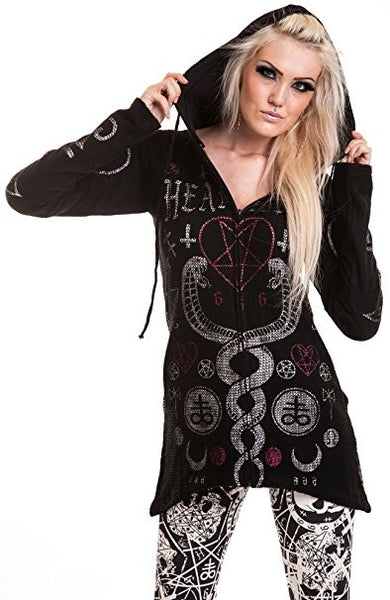 Heartless Women's Jacket kaamos hood Black Another Way of Life