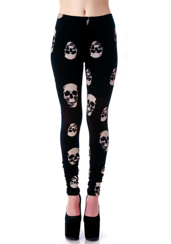 Lip Service Leggings Skulls Another Way of Life