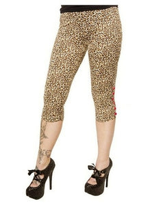 Sourpuss Capri Leopard Leggings Another Way of Life