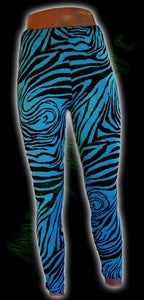 Blue Zebra Leggings - Another Way of Life