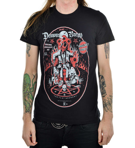 Men's black cotton t-shirt Demon Brew Another Way of Life