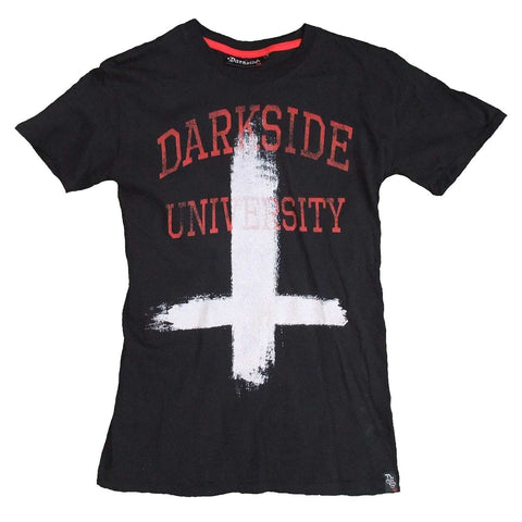 Men's black t-shirt with inverted cross