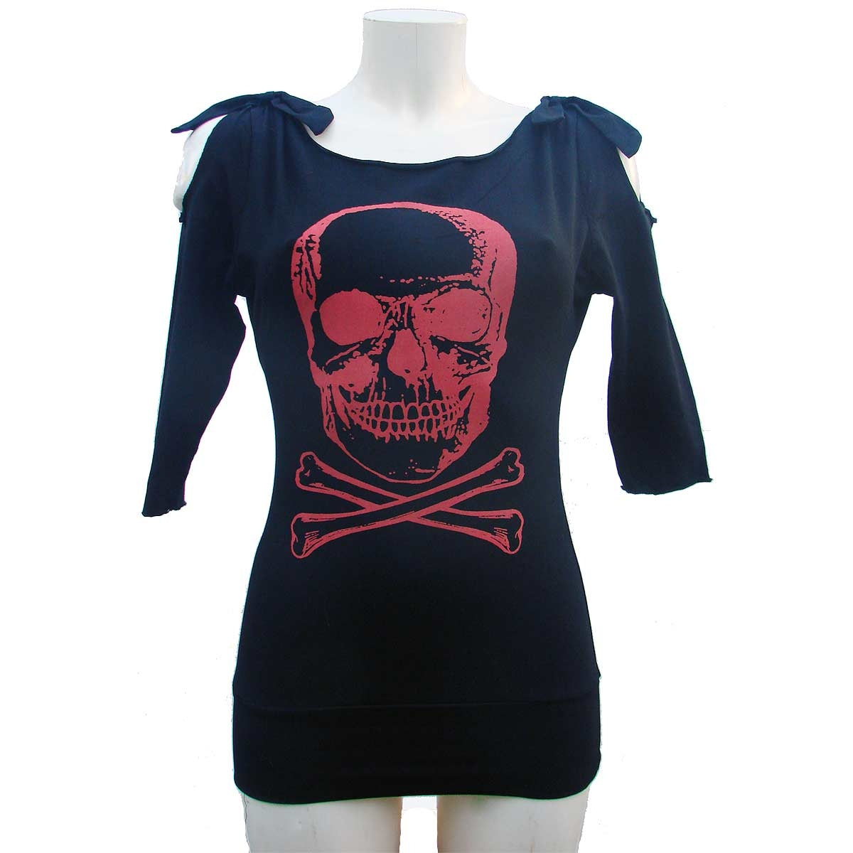 Woman's top t-shirt Black Skull Zoe