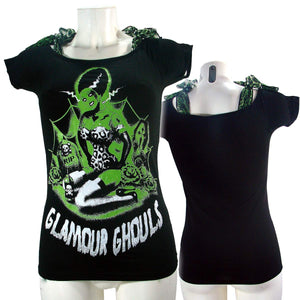 Women's T-Shirt Top Glamor Ghoul
