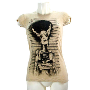 Women's T-shirt Frankenstein Bride Burnout