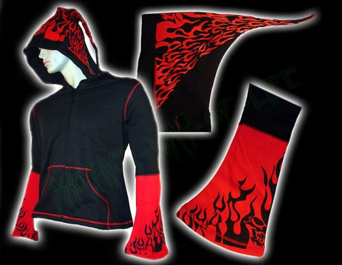 Hoodie jacket with tribal design Another Way of Life