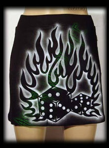Míni skirt punkrock black with a white designAnother Way of Life