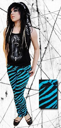 Darckside Blue & Black Zebra JeansAnother Way of Life