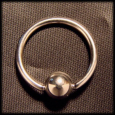 Piercing ring  with account slave, surgical steel Another Way of Life