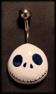 Belly piercing jack skelington with surgical steel Another Way of Life