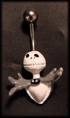 Piercing to the belly jack skelington with steel surgical Another Way of Life