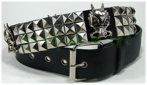 Gothic punk black belt small studded and dragons Another Way of Life