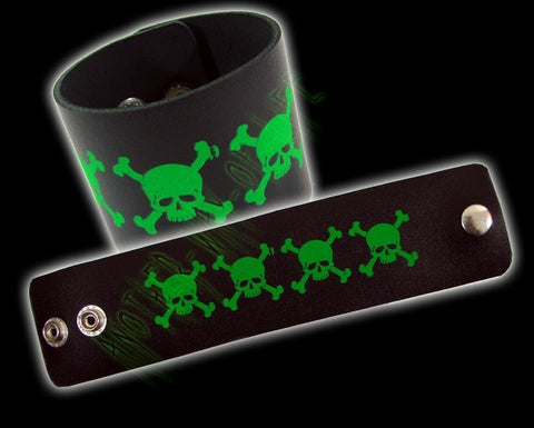 Bracelet with green skulls Another Way of Life