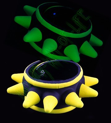 UV Rubber Spike Cyber BraceletAnother Way of Life