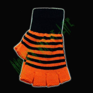 Fingerless Neon Stripes Magic Gloves Another Way of Life