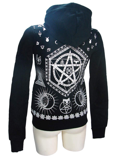 Black Esoteric Signs Woman's Hoodie By JawBreakerAnother Way of Life
