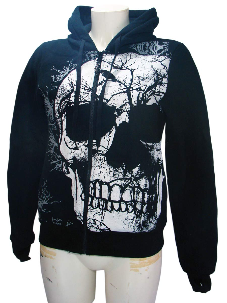 Black Crow Skull Woman's Hoodie By JawBreakerAnother Way of Life