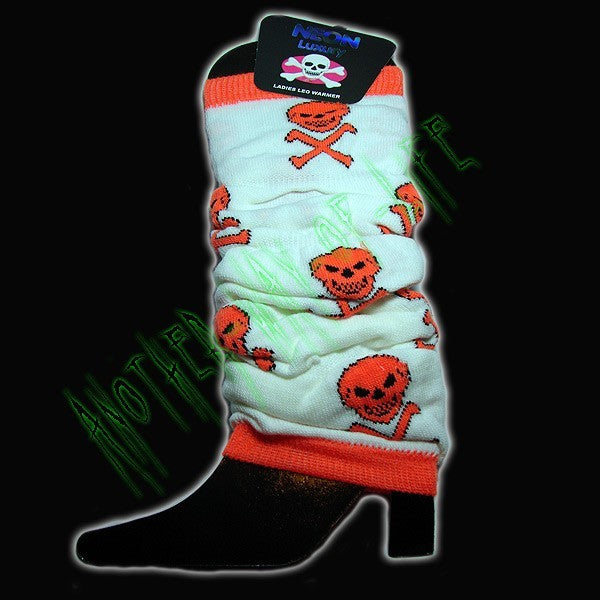Leg Warmers neon and crssbones skulls Another Way of Life