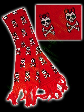 Red scarf with skulls Another Way of Life