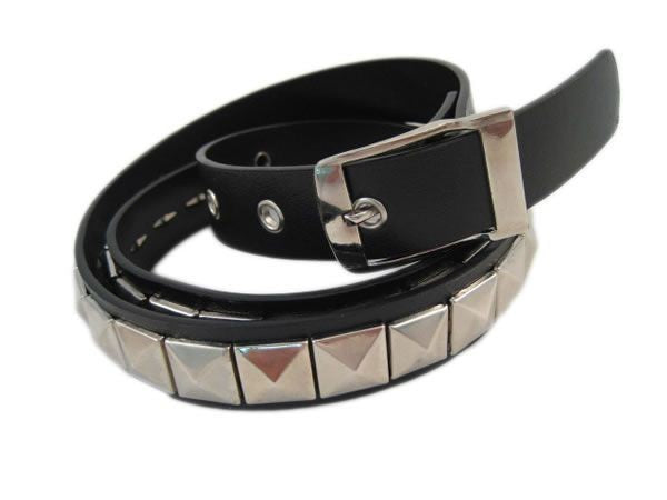 One row gothic punk black studded belt Another Way of Life