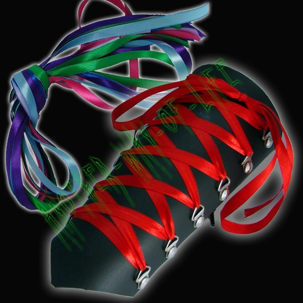 Armband with ribbon crossed, various colors Another Way of Life