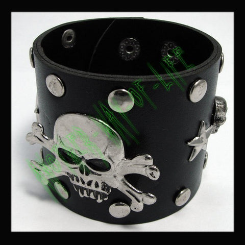 Bracelet with Skulls and studded roundAnother Way of Life