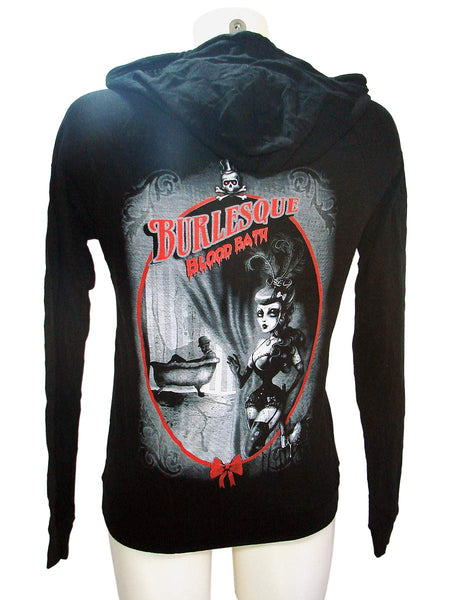 Women Punk Rock Burnout Hoodie Burlesque Blood Bath 1