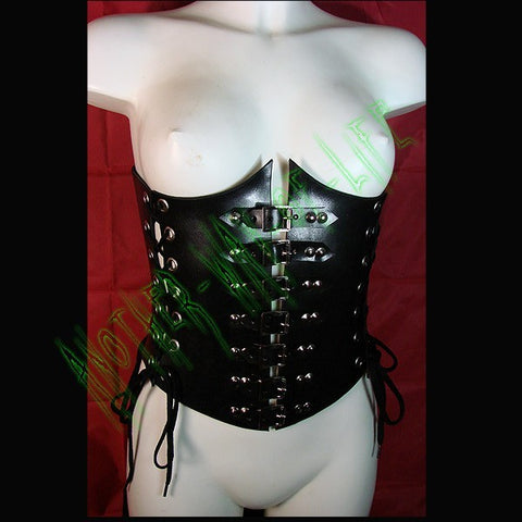 Leather corset under bust black Another Way of Life
