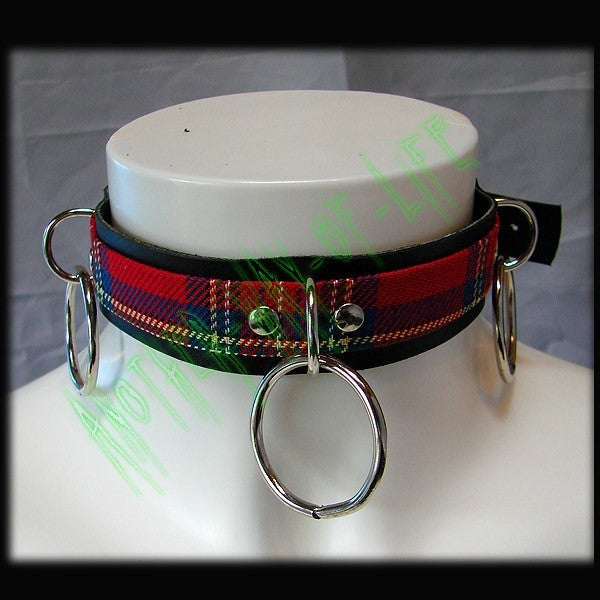 Choker tartan with 3 rings Another Way of Life