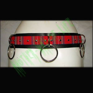 Belt with rings and tartan Another Way of Life
