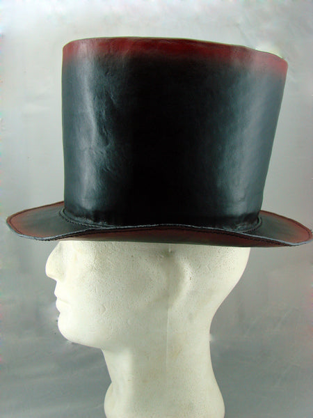 Steampunk top hat black and red Another Way of Life