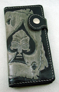 Biker-style wallet with ace of spades and skullAnother Way of Life