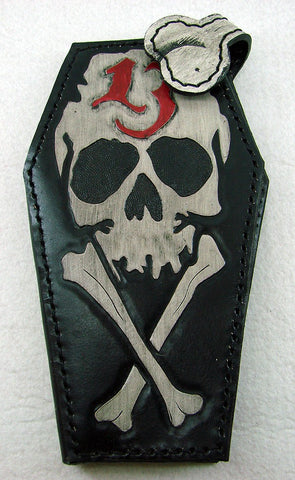 Coffin-shaped wallet: skull 13 Another Way of Life