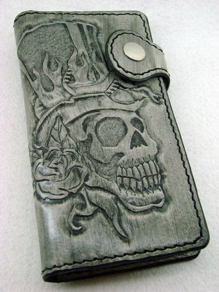 Biker-style wallet with skull Another Way of Life