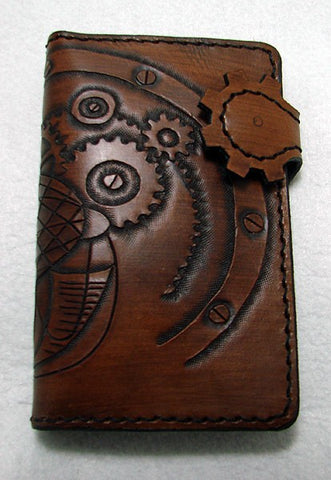Biker-style wallet with steampunk zeppelin Another Way of Life