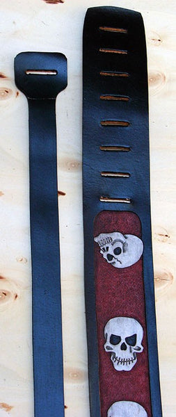 Guitar and bass strap with skulls - Another Way of Life