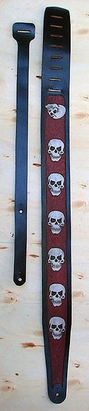 Guitar and bass strap with skulls Another Way of Life