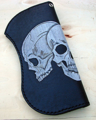 Biker bifold wallet  with 3 skullsAnother Way of Life