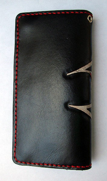 Cow leather biker-style wallet  with devilAnother Way of Life