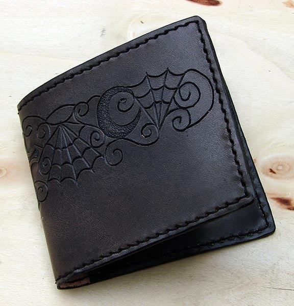 Handcrafted bifold gothic walletAnother Way of Life