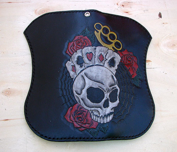 Bifold biker wallet with skull and knucklesAnother Way of Life