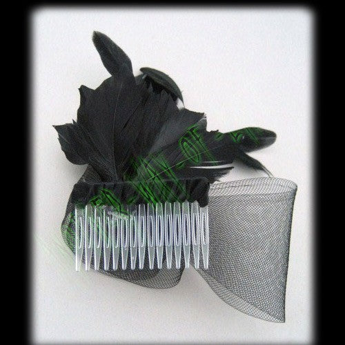 Fascinator Black With Net Boa & Feather DetailAnother Way of Life