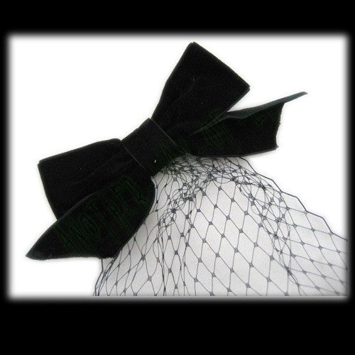 Fascinator Velvet Bow With NetAnother Way of Life