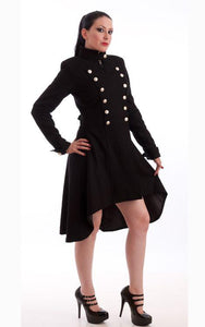 Black Ceres Military Woolen Coat by Necessary Evil