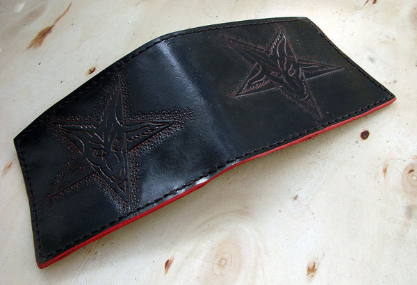 Handcrafted bifold wallet with baphometAnother Way of Life