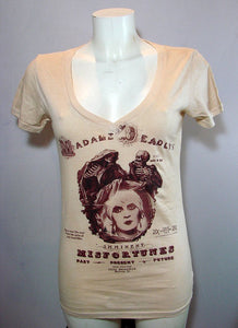 Women's T Shirt  Madame deadly's V Neck