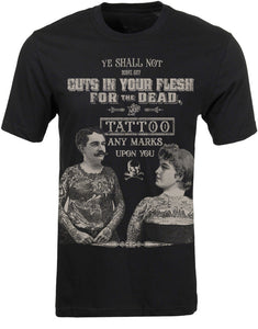 Men's Black T-Shirt Tattoos for the Dead Another Way of Life