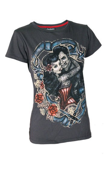 Women's T-Shirt Tattoo Lover Grey Another Way of Life