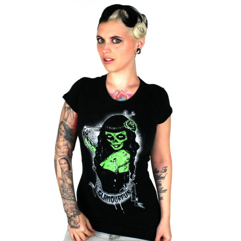 Women's T-shirt Glamourpuss Burnout